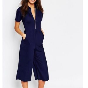 Zip up jumpsuit with wide legs from ASOS NWT
